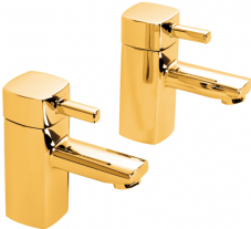 DoratO Moderno Hot and Cold Bath Taps in 24ct Gold